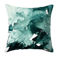 Boomboom Pillow Cases, Soft Geometric Marble Texture Throw Pillowcase Cushion Cases (F)