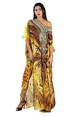 Silk kaftan online one piece dress on sale/jeweled/hand made/formal/caftan beach cover up hot lo ...