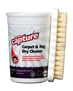 Capture Carpet Dry Cleaner Powder and Brush – Resolve Allergens Stain Smell Moisture from  ...