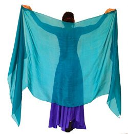 Nahari Silks 100% Silk Emerald Teal 82″