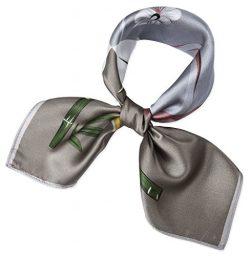 corciova Women 100% Mulberry Silk Neck Scarf Small Square Scarves Neckerchiefs Grullo Bubble Gum ...