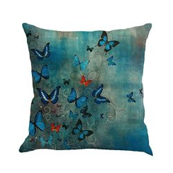 fbR8wawOKPHoYL9 Butterfly Throw Pillow Cases, Kimloog Square Flax Cushion Cover Car Sofa Home De ...