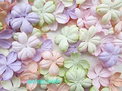 100 pcs Patch Flowers 30x30mm Mulberry Paper Flowers scrapbooking wedding doll house supplies ca ...