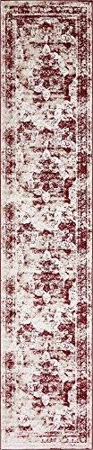 Unique Loom 3141381 Area Rug, 3′ x 16′, Burgundy
