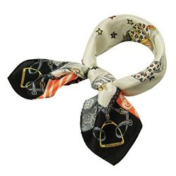 Silk Scarf Luxurious Square Warp -Pantonight 100% Silk Horse Scarf 21″21″ (silk hors ...