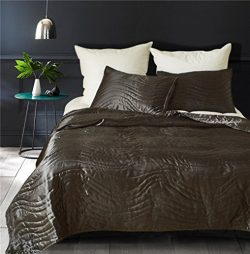 Drefeel Luxury Quality Super Soft Quilted Bedspread Set 3 Pieces Queen Size 90 by 90 Inches R ...
