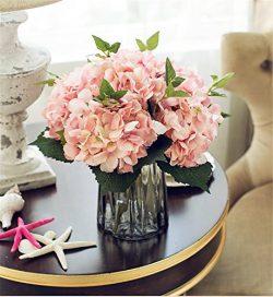 Felice Arts Artificial Silk Flowers California Fake Beautiful Hydrangea Bunch Bouquet Flower for ...