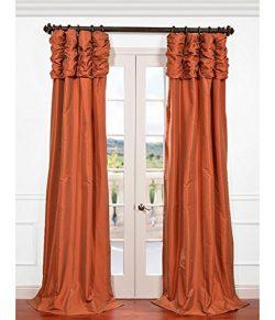 HPD HALF PRICE DRAPES Half Price Drapes PTCH-205-108-RU Ruched Faux Silk Taffeta Curtain, Harves ...