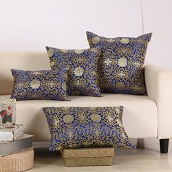 M MOCHOHOME Satin Rich Flower Square Decorative Throw Pillow Cover Case Pillowcase Cushion Sham  ...