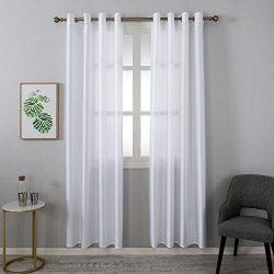 Grace Duet Opal Selection Semi Sheer Gauzy Shimmery Curtains Natural Light Flow Faux Silk Durabl ...