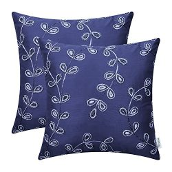 CaliTime Pack of 2 Faux Silk Throw Pillow Covers Cases for Home Sofa Couch 18 X 18 Inches, Cute  ...