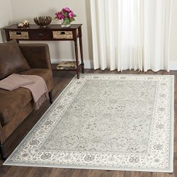 Safavieh Persian Garden Collection PEG608Q Traditional Silver and Cream Viscose Area Rug (4̸ ...