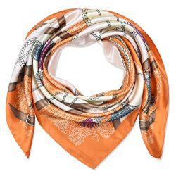 corciova 35″ Large Women's Satin Square Silk Feeling Hair Scarf Wrap Headscarf Carro ...