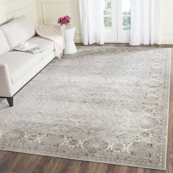 Safavieh Persian Garden Collection PEG611W Traditional Silver and Ivory Viscose Area Rug (4&#824 ...