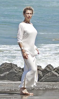 White and Gold, not Blue and Black Silk Goddes Kimono Dress, Silk Beach Dress, Special Occasion  ...
