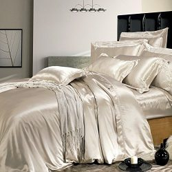 THXSILK 19 Momme Silk Duvet Cover, Silk Comforter Covers, Luxury Bedding – Ultra Soft, Mac ...