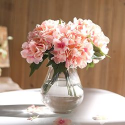 Veryhome Hydrangea Artificial Silk Fake Flower Bunch Bouquet Arrangements For Home Wedding Garde ...