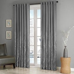 Madison Park Black Curtains For Living Room, Transitional Rod Pocket Light Curtains For Bedroom, ...