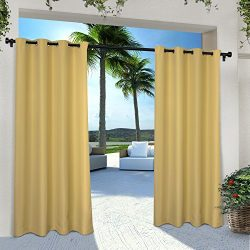 Exclusive Home Indoor/Outdoor Solid Cabana Window Curtain Panel Pair with Grommet Top 54×10 ...