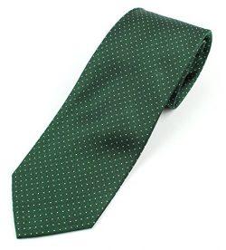 Men's Silk Necktie Tie Micro-Dot Pattern – Green