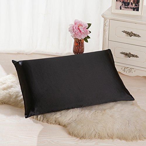ALASKA BEAR Luxurious 25 momme Silk Pillowcase, 100% Mulberry Silk Pillow Case Cover, Standard(1 ...