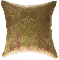 Avarada 16×16 Inch (40×40 cm) India Elephant Decorative Throw Pillow Covers Case Cushi ...
