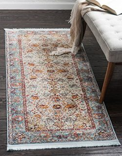 Unique Loom 3139625 Area Rug, 2′ x 6′, Light Blue
