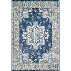 Surya Aura Silk-2′ x 3′ Area Rug 2′ x 3, 2′ x 3′, Blue