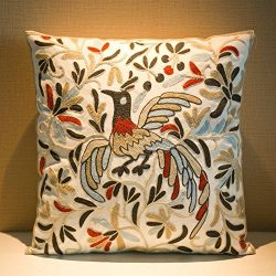 MeMoreCool Bohemia Exotic Style Pillow Sham Exquisite Stereoscopic Embroidered Cotton Throw Pill ...