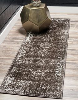 Unique Loom Sofia Collection Traditional Vintage Brown Home Décor Runner Rug (2′ x 13′)