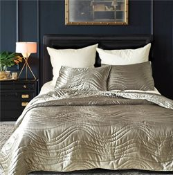 Drefeel Luxury Quality Super Soft Quilted Bedspread Set 3 Pieces King Size 90 by 104 Inches &#82 ...