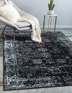 Unique Loom Sofia Collection Traditional Vintage Black Home Décor Area Rug (9′ x 12′)