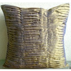 Luxury Purple Gold Pillows Cover, Textured Pintucks Solid Color Pillow Cover, 18″x18″ ...