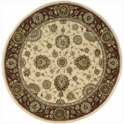 Nourison Nourison 2000 (2204) Ivory Round Area Rug, 4-Feet by 4-Feet  (4′ x 4′)