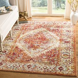 Safavieh SVH683P-5 Savannah Collection Abstract Area Rug, 5'1 x 7'6, Orange/Orange