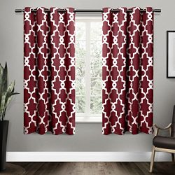 Exclusive Home Ironwork Sateen Woven Blackout Window Curtain Panel Pair with Grommet Top 52× ...