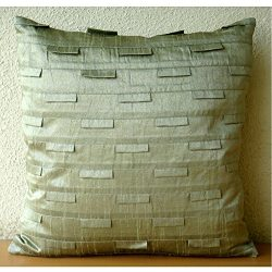 Pillow Covers 20×20 Taupe, Luxury Taupe Green Pillows Cover, Pintucks Textured Pillowcases, ...