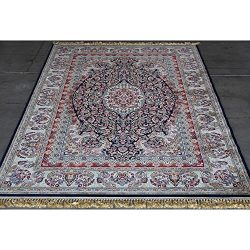 Art Frame Direct Power Loom Made Oriental Rug, 7′ x 10′, Blue