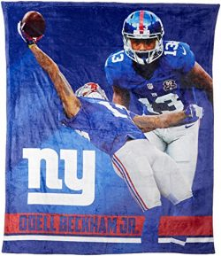 The Northwest Company Officially Licensed NFL New York Giants Odell Beckham Jr. Silk Touch Throw ...