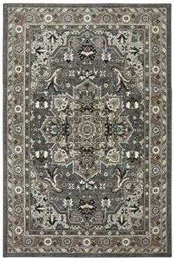 Karastan Euphoria Rhodes Woven Rug, 5'3×7'10, Ash Grey