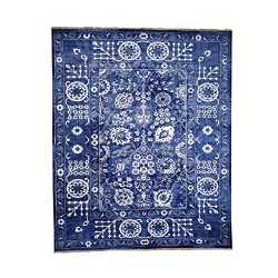 1800 Get A Rug Hand-Knotted Wool and Silk Tone on Tone Tabriz Square Oriental Rug(8'x10 ...