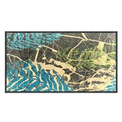 Silk & Sultans Agathe Collection Vintage Blue Design, Pet Friendly, Non-Slip Doormat with Ru ...
