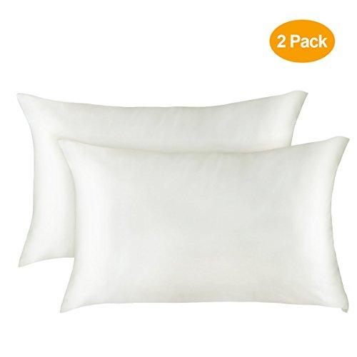 Bysure 2 Pack Satin Silk Pillowcases For Preventing Hair