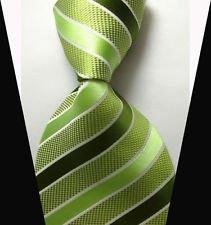 jacob alex #38823 Classic Necktie Elegant Striped Ties WOVEN JACQUARD Silk Men's Suits Tie