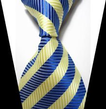jacob alex #38822 Classic Necktie Mens Elegant Striped Tie WOVEN JACQUARD Silk Men's Suits ...