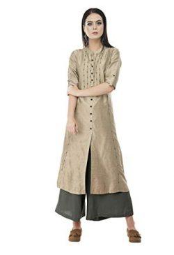 Lagi Kurtis Ethnic Women Kurta Kurti Tunic Solid A-Line Polly Silk Kurta Top Dress Casual Wear N ...