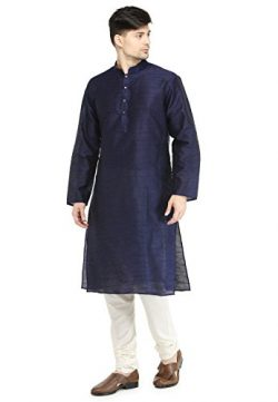 Festival Wear Kurta Pajama Set Men's Clothing Indian Designer Dupion Silk Dress