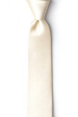 Ivory Cream Ivory Cream Silk Tie For Boys
