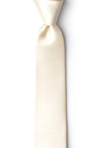 Ivory Cream Ivory Cream Silk Tie For Boys