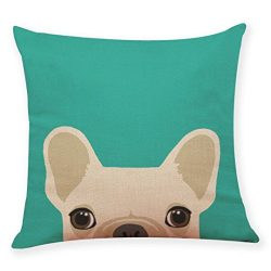 Lowprofile Home Decoration Cute Dog Head Throw Pillow Covers Pillowcase Cushion Cover